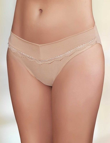 Şahinler - Sahinler Brief with Lace Detail Beige MB3034