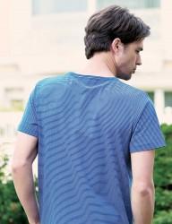 Big Bros Çizgili Erkek T-Shirt MEP22601 - Thumbnail