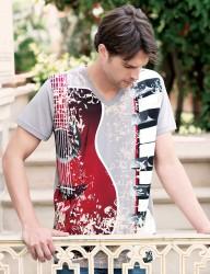 Şahinler - Big Bros Gitar Baskılı Erkek T-Shirt MEP22614