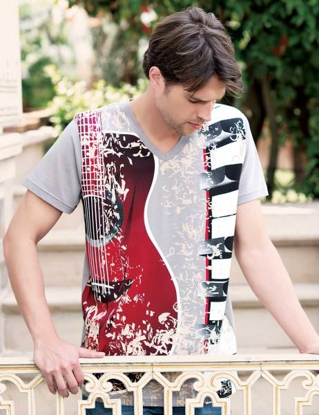Big Bros Guitar Printed Men T-shirt MEP22614
