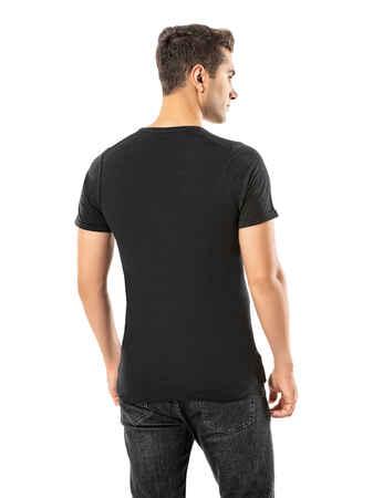LJUNG Erkek T-Shirt TML284001-BLACK - Thumbnail