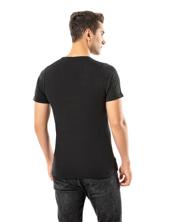 Şahinler - LJUNG Erkek T-Shirt TML284001-BLACK (1)