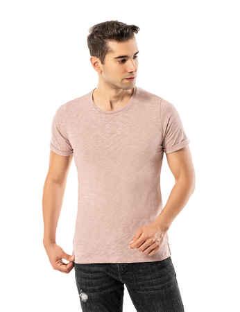 LJUNG Erkek T-Shirt TML284001-BPINK - Thumbnail