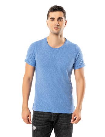 Şahinler - LJUNG Erkek T-Shirt TML284001-CORNBLUE