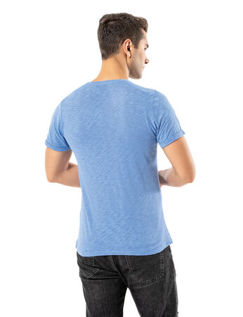 Şahinler - LJUNG Erkek T-Shirt TML284001-CORNBLUE (1)