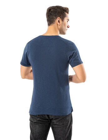 - LJUNG Erkek T-Shirt TML284001-DUSTYBLUE (1)
