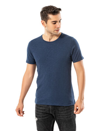 - LJUNG Erkek T-Shirt TML284001-DUSTYBLUE