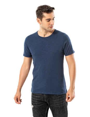 LJUNG Erkek T-Shirt TML284001-DUSTYBLUE - Thumbnail