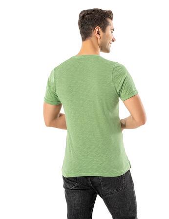 Şahinler - LJUNG Erkek T-Shirt TML284001-GGREEN (1)