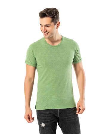 LJUNG Erkek T-Shirt TML284001-GGREEN - Thumbnail