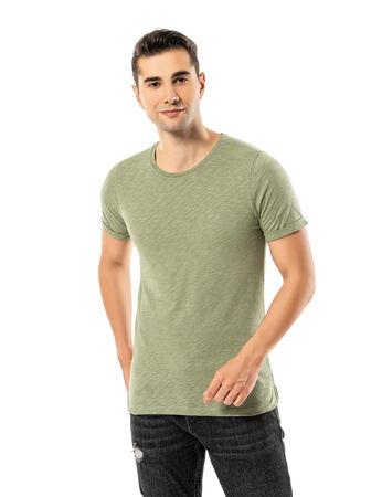 Şahinler - LJUNG Erkek T-Shirt TML284001-HERBGREEN