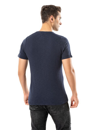 Şahinler - LJUNG Erkek T-Shirt TML284001-NAVY (1)