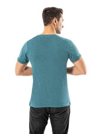 LJUNG Erkek T-Shirt TML284001-VGREEN - Thumbnail
