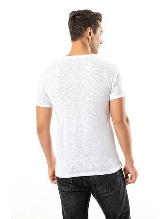 Şahinler - LJUNG Erkek T-Shirt TML284001-WHITE (1)