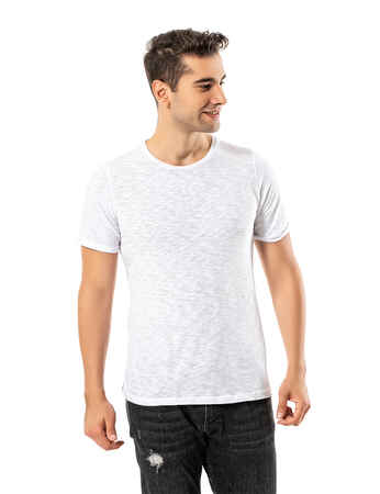 LJUNG Erkek T-Shirt TML284001-WHITE - Thumbnail