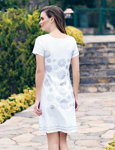 Mel Bee - Mel Bee Bayan Elbise Beyaz MBP23302-1 (1)
