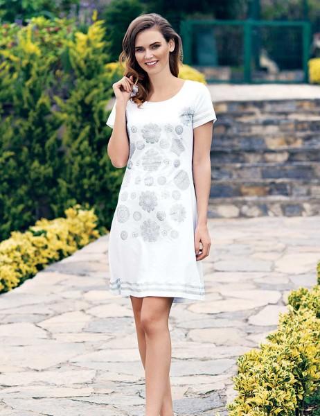 Mel Bee - Mel Bee Bayan Elbise Beyaz MBP23302-1