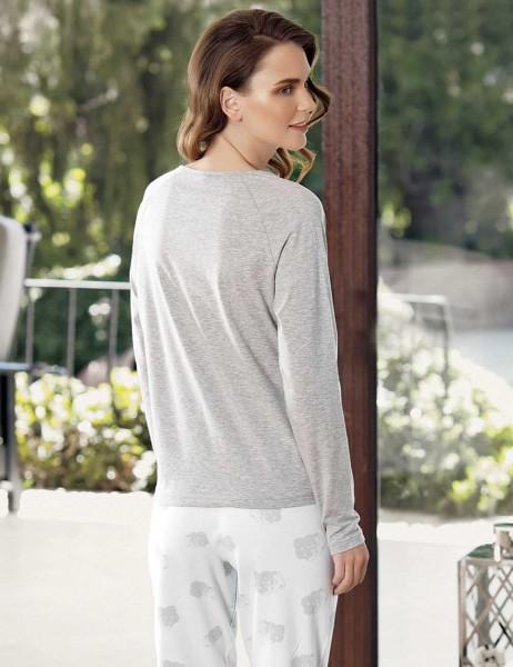 Mel Bee - Mel Bee Cloud Printed Pajama Set Grey MBP23609-1 (1)