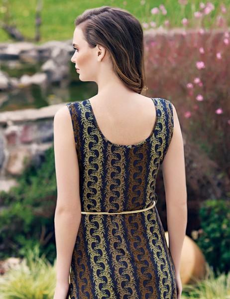 Mel Bee - Mel Bee Desenli ve Kemerli Kadın Elbise MBP23306-1 (1)