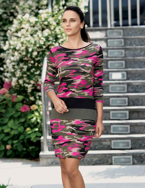 Mel Bee - Mel Bee Dress Camouflage MBP22322-2