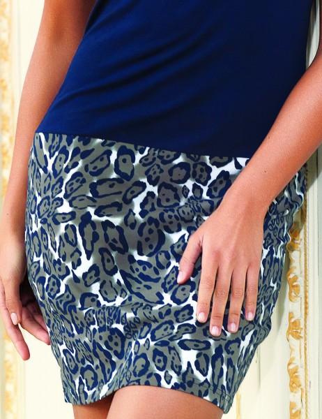 Mel Bee - Mel Bee Платье Темно-синее С Рисунком С Низким Принтом MBP22222-1 (1)