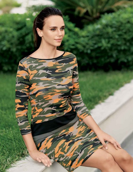 Mel Bee - MBP22322-1 فستان مموه