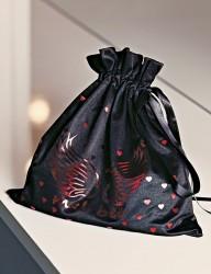 Mel Bee Fancy Nightgown Set Black MB4020 - Thumbnail