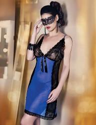 Şahinler - Mel Bee Fantazi İç Giyim Gecelik Lacivert MB4001