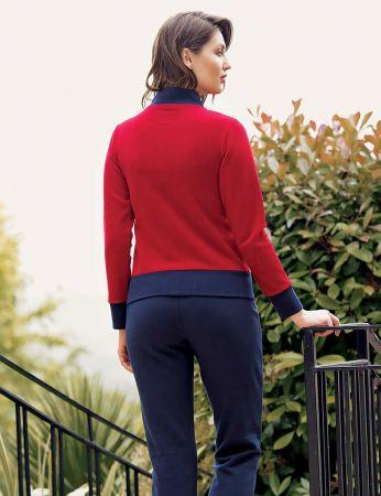 Mel Bee - Mel Bee Fermuarlı Kadın Pijama Takımı Kırmızı MBP23634-1 (1)