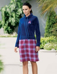 Mel Bee Fleece Nachthemd bedruckt MBP22351-1 - Thumbnail