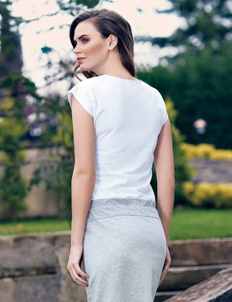 Mel Bee - Mel Bee Gül Desenli Elbise Beyaz MBP23301-1 (1)