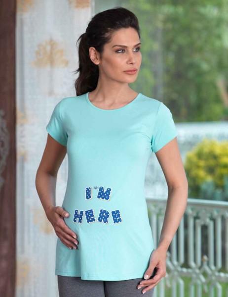 Mel Bee - Mel Bee I AM HERE Lohusa T-Shirt Mint MB4512
