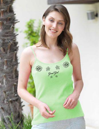 Mel Bee - Mel Bee İp Askılı Kadın Atlet D-14 Yeşil