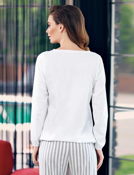 Mel Bee - Mel Bee Kadın Pijama Takımı Beyaz MBP23331-1 (1)
