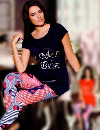 Mel Bee - Mel Bee Leggings Set Dunkelblau MBP21718-2