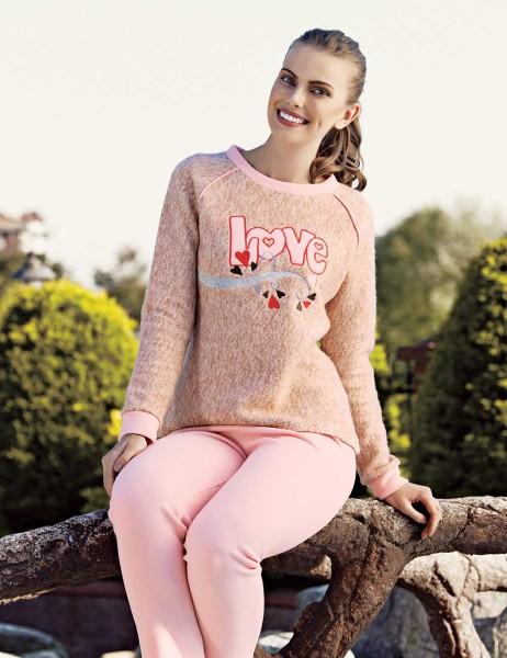 Mel Bee LOVE Kadın Pijama Takımı Bej MBP23619-1