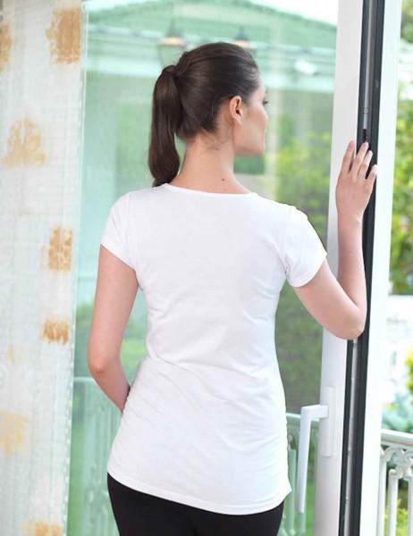 Mel Bee - Mel Bee Bebek Baskılı Lohusa T-Shirt Beyaz MB4511 (1)