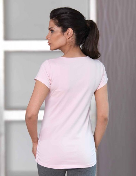 Mel Bee - Mel Bee Maternity T-shirt BALLOON Printed Pink MB4509 (1)