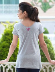 Mel Bee Maternity T-shirt RABBIT Printed Gri MB4507 - Thumbnail