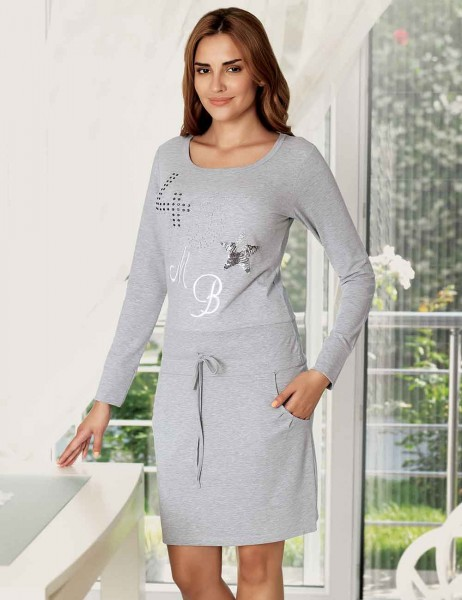 Mel Bee - Mel Bee Nightgown Stone Printed MBP22345-1