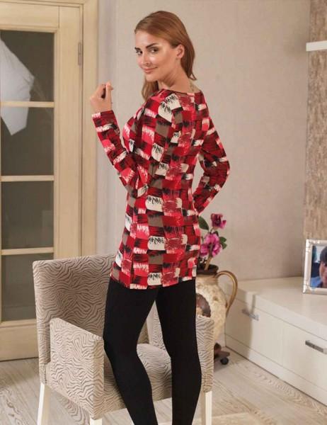 Mel Bee - MBP22323-1 فستان تايت منقوش (1)