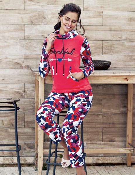 Mel Bee - Mel Bee Polar Kadın Pijama Takımı Desenli MBP23632-1