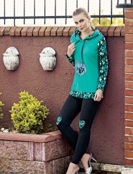 Mel Bee - Mel Bee Polar Leggings Set Mint MBP23629-1