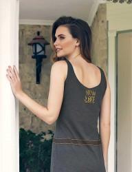 Mel Bee - Mel Bee Printed Dress Green MBP23304-1 (1)