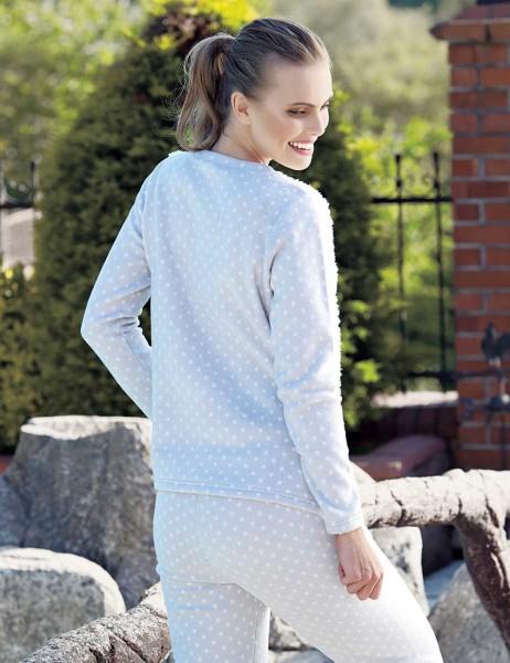 Mel Bee - Mel Bee Puan Baskılı Kadın Pijama Takımı Ekru MBP23624-1 (1)