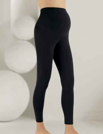 Mel Bee Maternity Leggings Black MB4501 - Thumbnail