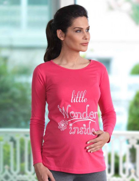 Mel Bee - Mel Bee Maternity T-shirt Printed Pomegranate MB4506