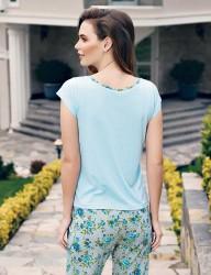 Mel Bee - Mel Bee Rose Print Women Pajama Set Blue MBP23337-1 (1)