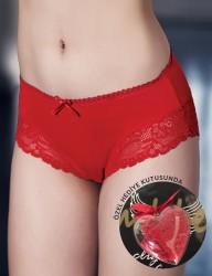 Mel Bee Трусы Кружевные Красные В Специальной Коробке MB3038 - Thumbnail