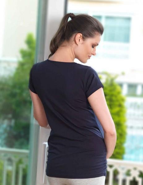 Mel Bee - Mel Bee T-shirt für Schwangere Dunkelblau MB4504 (1)